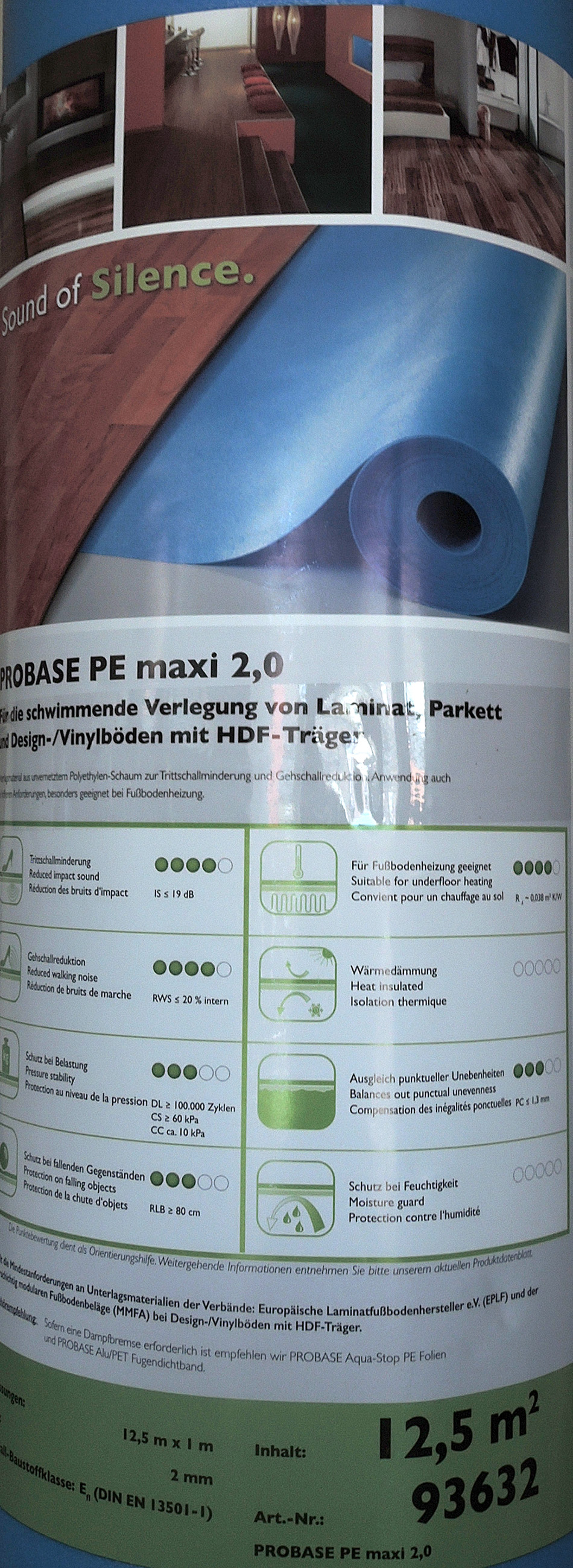 Proline PROBASE Trittschalldämmung Parkett 2,56 €//m² Laminat *93614* 25 m²